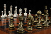 Chess Game with Focus on Light Pieces — Stock Photo