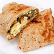 Foto Stock: Feta Egg Wrap