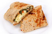 Feta Egg Wrap — Stock Photo