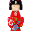Beautiful Geisha Girl Holiday Nutcracker - Stock Photo