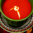 Tomato Bisque Soup Close Up - Stock Photo