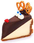 Rudolf the Rednosed Cheesecake — Stock Photo