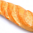 Foto Stock: Golden Brown Loaf of French Baguette Bread