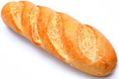 Golden Brown Loaf of French Baguette Bread — Стоковое фото