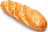 Zlaté hnědé bochník chleba francouzskou bagetou — Stock fotografie