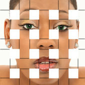 Abstract Woven Face Portrait — Stock Photo