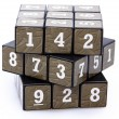 Number Puzzle Cube Unsolved — Stock Photo