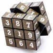 Number Puzzle Cube Unsolved — Stock Photo #28133561