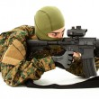 Stock Photo: Young Min Camo Shooting Air Rifle