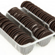 Package of Chocolate Cookies with Cream Filling — Foto de Stock