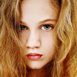 Beautiful Dramatic Portrait of Young Teen Girl — Foto Stock