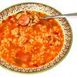Stock Photo: Bowl of Cajun Gumbo Soup in Bowl