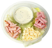 Healthy Fast Food Chef Salad in Carryout Bowl — Stock Photo