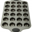 Stock Photo: Empty Metal Muffin Tray
