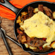 Texas Skillet Breakfast with Steak, Potato and Egg — Stock Photo #40541365