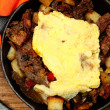 Texas Skillet Breakfast with Steak, Potato and Egg — Stock Photo #40541441