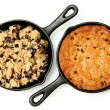 Постер, плакат: Gluten Free Chocolate Chip Skillet Cookie Before and After