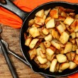 Stock Photo: Ranch Potatoes in Cast Iron Skillet