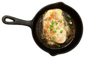 Oven Baked Swordfish in Butter with Green Onions and Ginger — Stock Photo