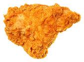 Frito crocante de peito de frango isolado sobre o branco — Foto Stock