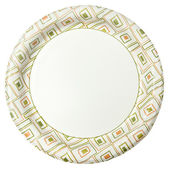 Disposable Paper Plate Over White — Stock Photo