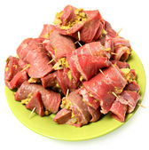 Raw Prepared German Beef Roulade Ready to Cook — Stock Photo