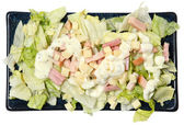 High Angle View Isolated Chef Salad on Plate — Stock Photo