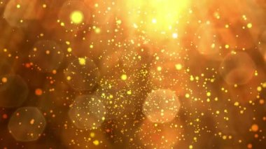 Abstract golden particles background loop