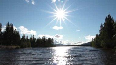 Sunny lake — Stock Video