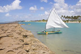 Boat at Porto de Galinhas beach — Foto Stock