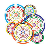 Abstract Circles colorful geometric background — Stock Vector