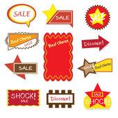 Sale banner sign/ad — Vector de stock