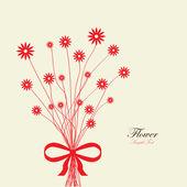 Bouquet flower background — Stock Vector