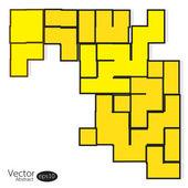 Abstraktní žlutá Kachlová pozadí — Stock vektor