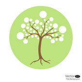 Abstract circle tree — Stock Vector