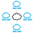 Cloud computing concept — Stock Vector