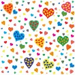 Heart Valentines seamless pattern — Stock Vector