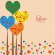 Valentines fancy love tree background — Vettoriale Stock #17654077