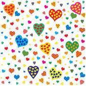 сердца валентина бесшовный фон — Cтоковый вектор
