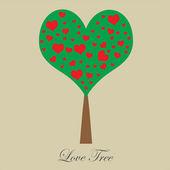 Valentine tree, love — Stock Vector