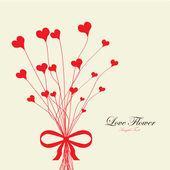 Valentine's love flower — Stock Vector