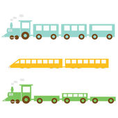 Train cartoon — Stock Vector