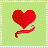 Happy Valentine's Day card — Vector de stock
