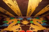 Styl malarstwa chińskiego smoka złoto — Zdjęcie stockowe
