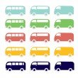 Van car set — Stock Vector