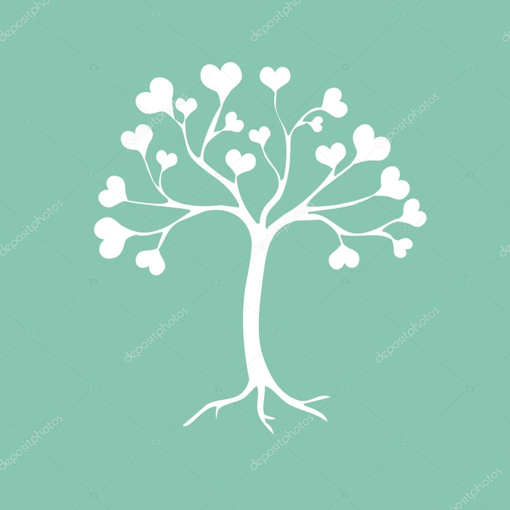 Heart tree — Stock Vector #19423027