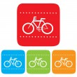 Stock Vector: Bicycle sign