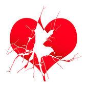Złamane serce — Wektor stockowy