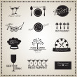 Food and Drink Restaurant labels set — Stock Vector