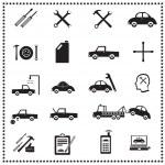 riparazioni auto set di icone, illustrazione vettoriale — Vettoriale Stock